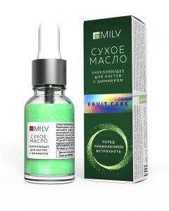 """Сухое масло для ногтей с шиммером Fruit care"""" MILV 15мл"""""""